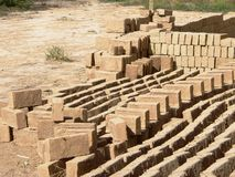 Adobe Bricks - Sustainable Building Materials 1 Royalty Free Stock Photography
