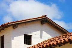 Adobe budynek z dachówkowym dachem Obraz Royalty Free