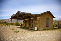Adobe Building. In Castolon. Big Bend National Park, Texas, United States Stock Photography