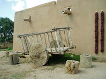 Adobe building in Taos, NM Royalty Free Stock Image