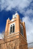 USA, New Mexico/Albuquerque: Old Catholic church/Steeple Royalty Free Stock Images
