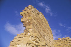 Adobe ściana z cegieł około 1060 reklama, Chaco jaru indianina ruiny centrum Indiańska cywilizacja, NM Zdjęcia Royalty Free