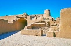 Adobe citadeller av Iran royaltyfri bild
