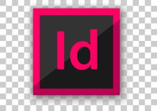 Adobe in design icon design software. Design vector of icon software from adobe technology with customize background stock illustration
