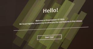 Adobe Dreamweaver CC start stock footage
