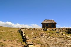 Adobe Farmer House in the Countryside of Bolivia Stock Image