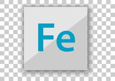 Adobe felix icon design white square background. Design vector of icon application white tile background Eps10 file support Royalty Free Stock Photography