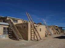 Adobe-flache Roofed Häuser Lizenzfreie Stockfotos