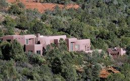 Adobe-Gebäude in der Wüste Stockbilder