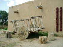 Adobe-Gebäude in Taos, Nanometer Lizenzfreies Stockbild