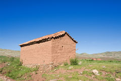 Adobe-Haus, Bolivien. Stockfotografie
