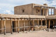 Adobe - historisches altes Bent& x27; s-Fort Colorado Lizenzfreies Stockfoto