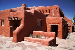 Adobe house. The classical red Adobe house Stock Image