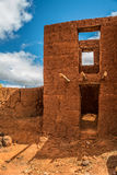 Adobe house. In Antananarivo without roof Stock Photo