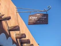 De Vargas Street House in Santa Fe, New Mexico stock images