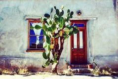 Adobe House. Cactus adobe house Stock Photography