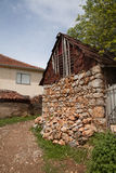 Adobe house in Ohrid, Macedonia. Old Villages. Adobe clay brick , mud brick house in Ohrid, Old Villages in Macedonia Royalty Free Stock Images