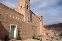 Adobe house, Taliouine, Taroudant Province, Morocco Royalty Free Stock Photo