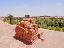 Adobe i Ait Benhaddou, Marocko Arkivfoton