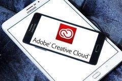 Adobe idérik molnlogo Arkivbild