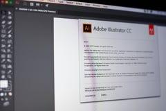 Adobe-Illustratormenü Stockbilder