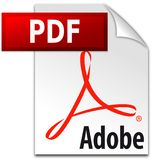 Editorial - Adobe PDF icon vector logo royalty free illustration