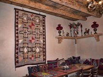 Adobe interior in Taos New Mexico Stock Images