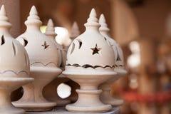 Adobe kadzidłowy palnik w Nizwa souk, Oman Obrazy Royalty Free