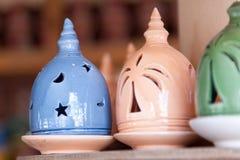 Adobe kadzidłowy palnik w Nizwa souk, Oman obraz stock