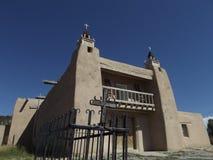 Adobe-Kirche, Las Trampas, New Mexiko Lizenzfreie Stockfotos