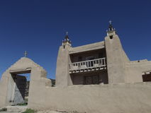 Adobe-Kirche, Las Trampas, New Mexiko Lizenzfreies Stockbild