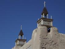 Adobe-Kirche, Las Trampas, New Mexiko Stockfoto