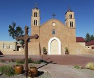 Adobe-Kirche, Socorro, New Mexiko Lizenzfreie Stockbilder
