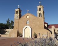 Adobe-Kirche, Socorro, New Mexiko Stockbilder