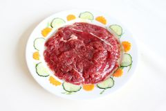 Adobe la característica de la carne de vaca Fotografía de archivo libre de regalías