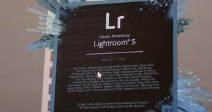 Adobe Lightroom  CC start stock footage