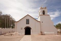 Adobe made church. The main church of San Pedro de Atacama, Chile Royalty Free Stock Images