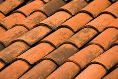 Adobe Mexican Roof Tiles Stock Photo