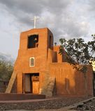 adobe mission church, santa fe nm royalty free stock photo