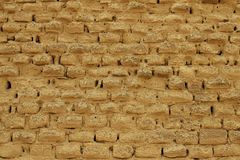 Adobe Mud Brick Wall Stock Photography