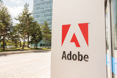 Adobe munich. Sign infront of the Adobe offices in munich Royalty Free Stock Photos