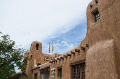 Adobe-Museum in Santa Fe New Mexiko Stockfoto