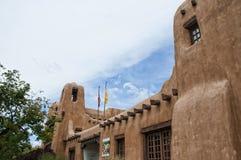Adobe-Museum in Santa Fe New Mexiko Stockfoto