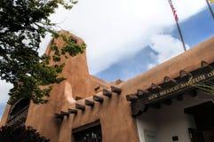 Adobe-Museum in Santa Fe New Mexiko USA Lizenzfreie Stockfotografie