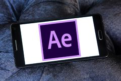 Adobe nach Effektlogo Lizenzfreie Stockbilder