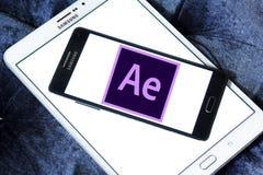 Adobe nach Effektlogo Stockfotografie