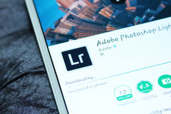 Adobe-photoshop lightroom bewegliche APP Stockfotografie