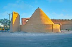 Adobe-Pyramide in Kerman, der Iran Stockbilder