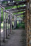 Adobe Quarters. Porches outside indian quarters at the missions Royalty Free Stock Images