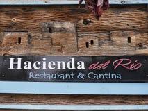 Adobe-Restaurant in Albuquerque-New Mexiko USA stockfotos